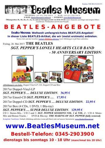 Beatles Museum - Katalog 73 mit Hyperlinks