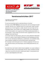 Vereinsnachrichten 2017