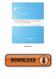 Entrepreneurial Finance and Accounting for High-Tech Companies (MIT Press)
