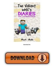 The Valiant Wolf's Diaries (Book 7): The Missing Animals (An Unofficial Minecraft Book for Kids Ages 6 - 12 (Preteen...