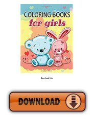 Cute Coloring Book for Girls: The Really Best Relaxing Colouring Book For Girls 2017 (Cute, Animal, Dog, Cat,...