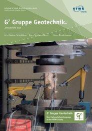 Jahresbericht 2016 G² Gruppe Geotechnik
