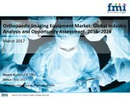 Orthopaedic Imaging Equipment Market will Increase at a CAGR of 4.9% during 2016-2026
