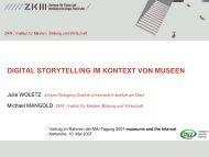 DIGITAL STORYTELLING IM KONTEXT VON MUSEEN - Mai-Tagung