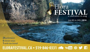 Elora Festival Brochure 2016