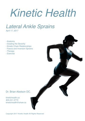 Lateral Ankle Sprains - Kinetic Health