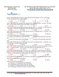 50 đề thi thử thpt quốc gia năm 2017 môn vật lý có đáp án và giải thích chi tiết từng câu tuyensinh247 thực hiện (Dạy Kèm Quy Nhơn Official sưu tầm và giới thiệu)