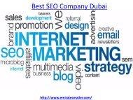 How to get the best seo company Dubai