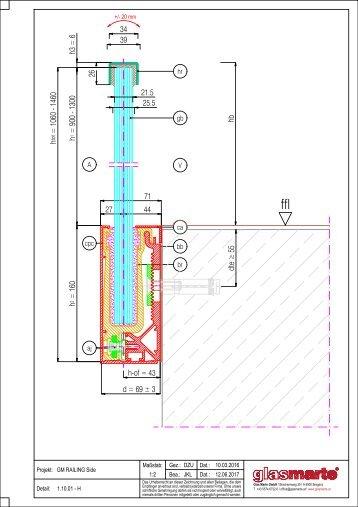 GM RAILING SIDE 20/24 - Detailzeichnung