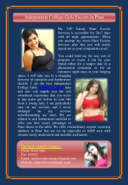 Independent College Girls Escorts in Pune