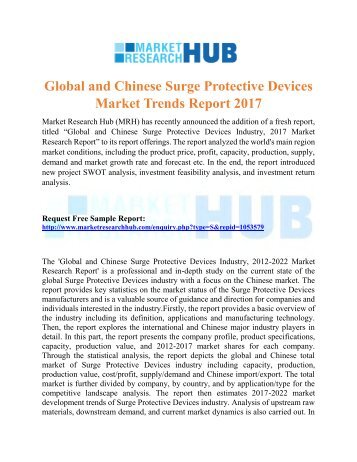 Global and Chinese Surge Protective Devices Market Trends Report 2017