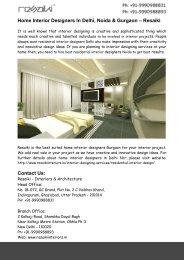 Home Interior Designers Gurgaon- Residential Interior Designers Noida