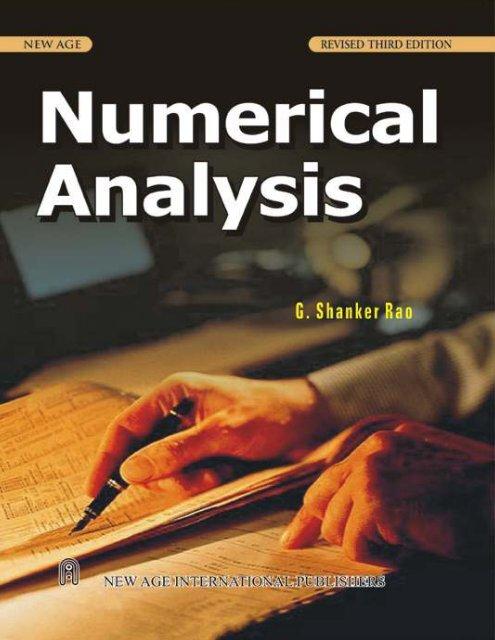 By rao numerical analysis book sankara