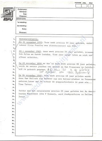 19881124 Draaiboek Nationale hitparade top 100 24 november 1988 (tekst Martijn Krabbe) (11)