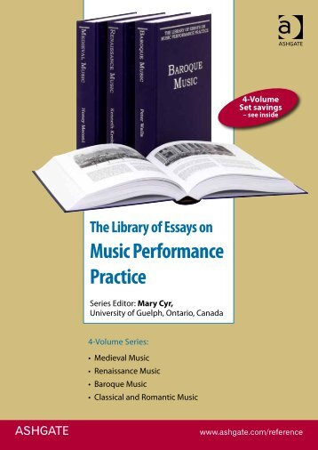 The Library of Essays on Music Performance Practice - Ashgate