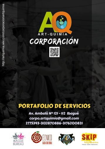 Corporación Art-Quimia Portafolio de Servicios