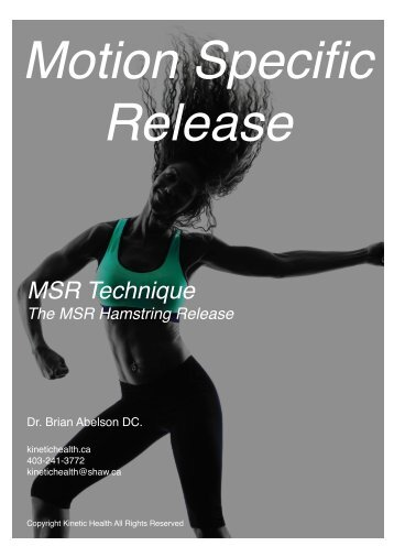 MSR Technique - The Hamstring Release