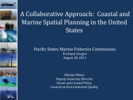 National Ocean Council - Pacific States Marine Fisheries Commission