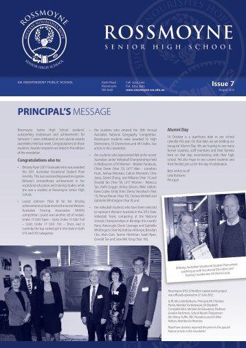 2012 Issue 7 - Rossmoyne Senior High School