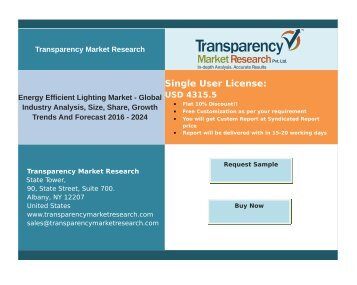 Energy Efficient Lighting Market - Global Industry Analysis,Trends and Forecast 2024