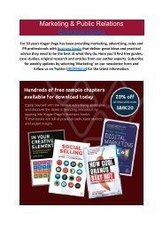 Marketing & Public Relations Business Books