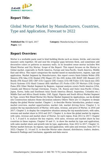 global-mortar-market-by-manufacturers-countries-type-and-application-forecast-to-2022-24marketreports