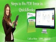 How to troubleshoot PDF Error in QuickBooks? 18002044122