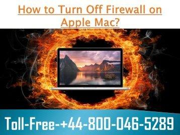 How to Turn Off Firewall on Apple Mac +448000465289