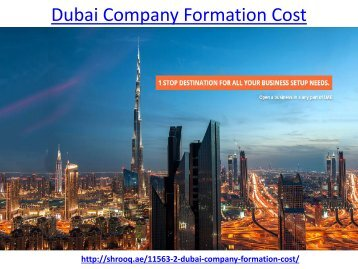 How to get get the best dubai company formation cost