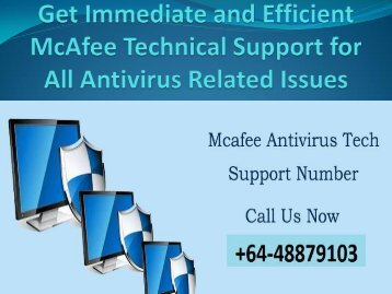 Get Immediate and Efficient McAfee Technical Support for All Antivirus Related Issues(1)