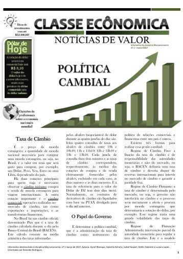 Jornal Classe Econômica - Notícias de Valor
