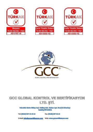 GCC Sertifikasyon Broşür