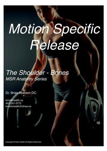 Anatomy of the Shoulder - The Bones