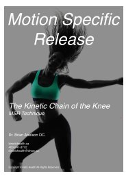 The Kinetic Chain of the Knee