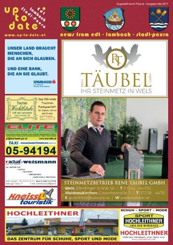 news from edt - lambach - stadl-paura Mai 2017