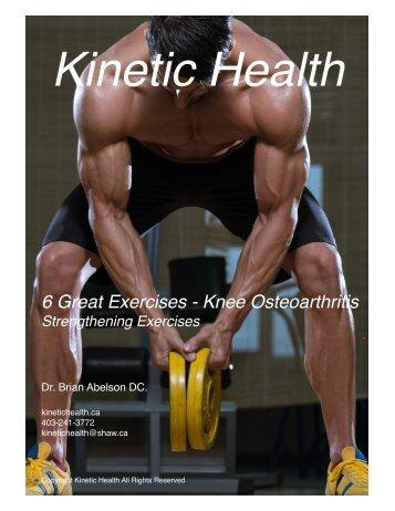 6 Great Exercises - Knee Osteoarthritis