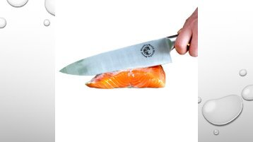 Chef Knife - Kitchen Knife - Multipurpose 8 Inch Stainless Steel Straight Edge - Home or Restaurant - Food Safe - Perfect blade for mincing, slicing and dicing