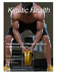 Hip Raises - 5 Different Versions