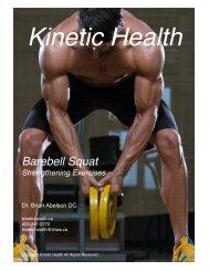 Barbell Squat - Quadriceps and Calves