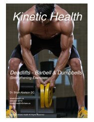 Deadlifts (Barbell and Dumbbells)