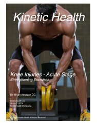 Knee Injuries - Acute Stage