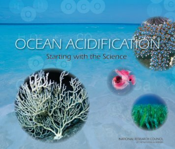 OCEAN ACIDIFICATION Starting with the Science