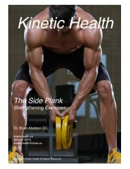 The Side Plank - Core Exercise