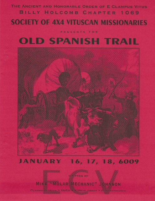 """6009/2004 Winter Vituscan \""""The Old Spanish Trail\"""""""