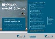 Hightech macht Schule! - Erlebe IT