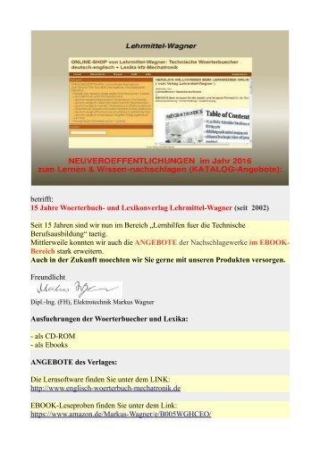 woerterbuch-und lexikonverlag: lehrmittel-wagner (kfz-mechatronik-Texte + Technik-Begriffe uebersetzen)