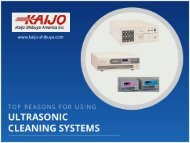 Top Reasons for Using Industrial Ultrasonic Cleaners
