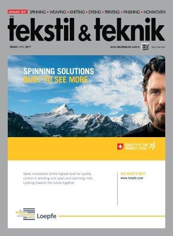 Tekstil Teknik Dergisi Nisan 2017 Sayısı
