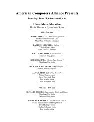 Saturday, June 23, 6pm-10pm: A New Music Marathon (Thalia ...