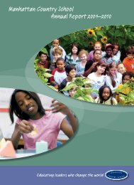 Manhattan Country School Annual Report 2009–2010